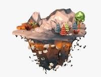 floating island 3D
