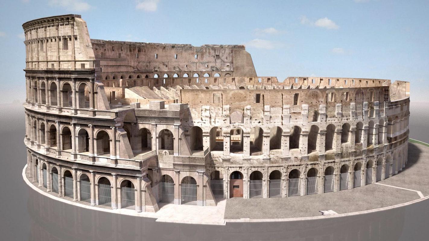 roman colloseum ruins 3D model