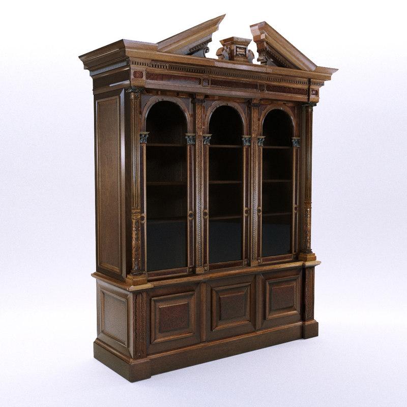 3D historicism bookcase south model