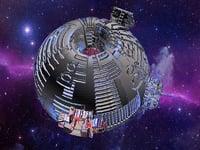 3D sci-fi mother ship