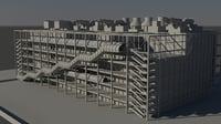centre george pompidou 3D model