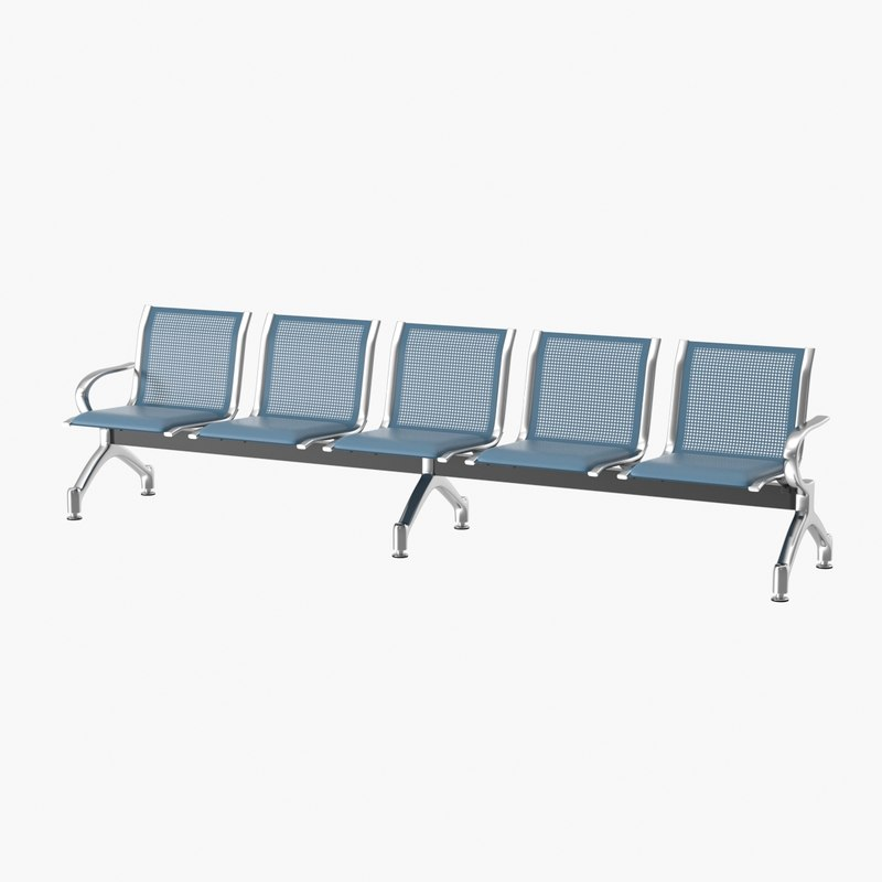3D realistic waiting bench