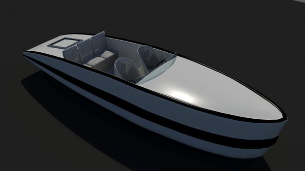 3D boat yacht
