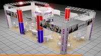 fair exhibition stand modular 3D model