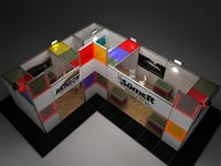 fair exhibition stand maxima 3D model