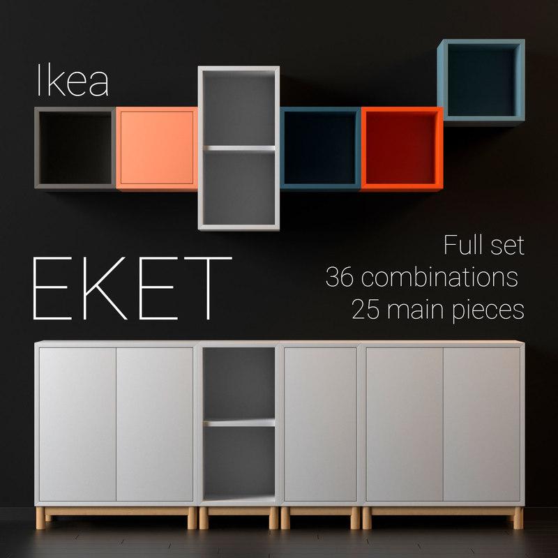 Ikea Eket 3d Model Turbosquid 1196494