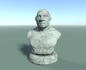 bust neanderthal model