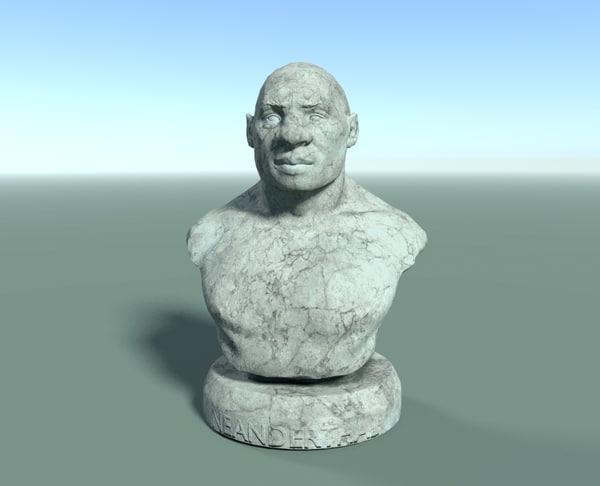 bust neanderthal model