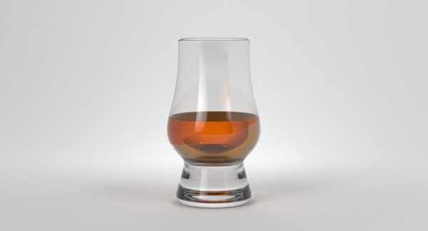 3D whisky dram model