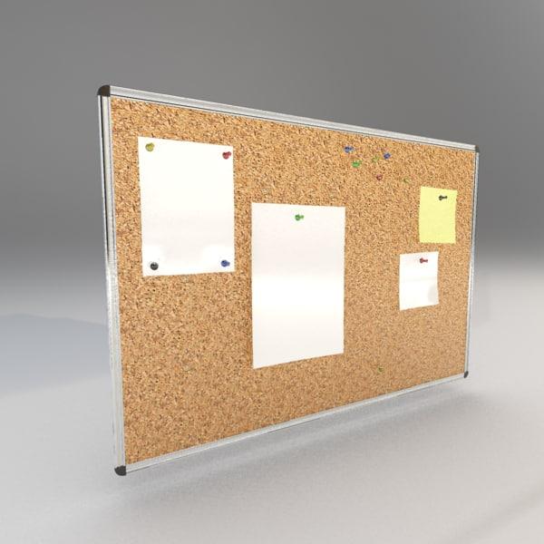 notice board 3D model