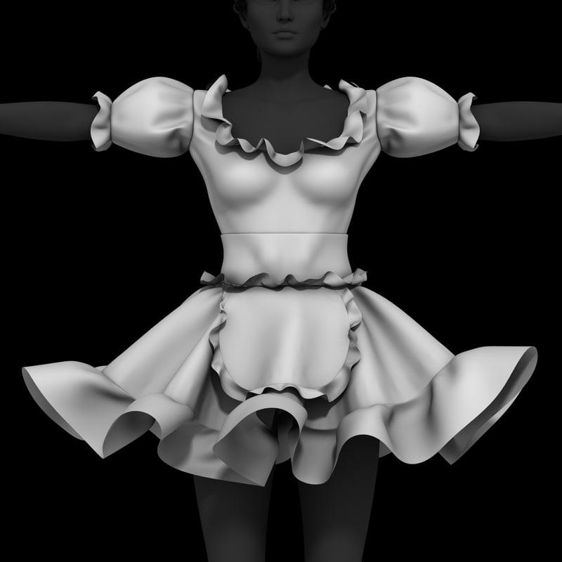 fancy dress 3D model