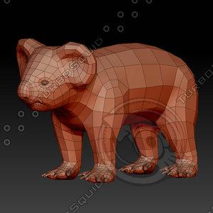 3D koala bear