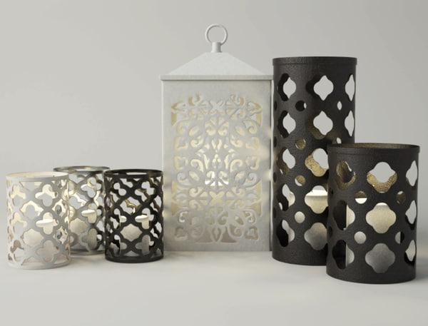 cutout candleholders 3D model