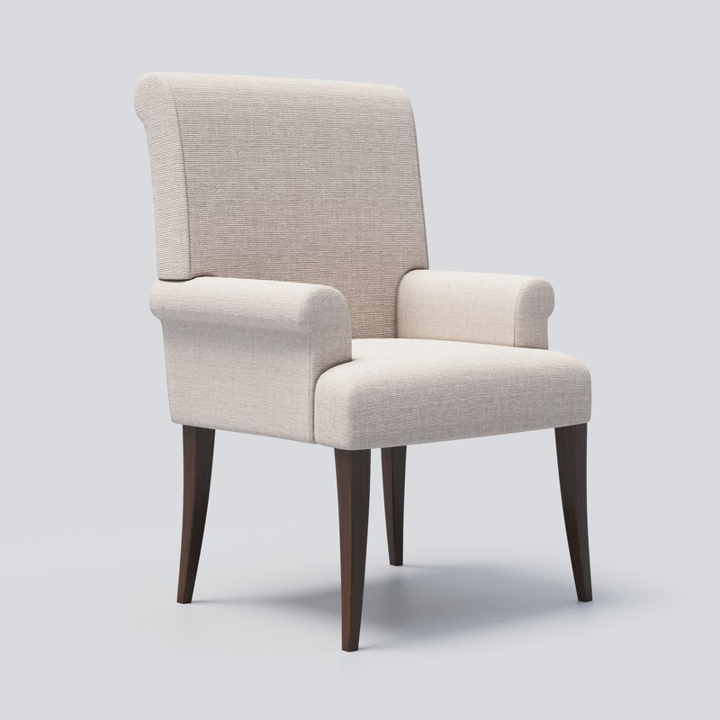 dining chair pottery barn 3D