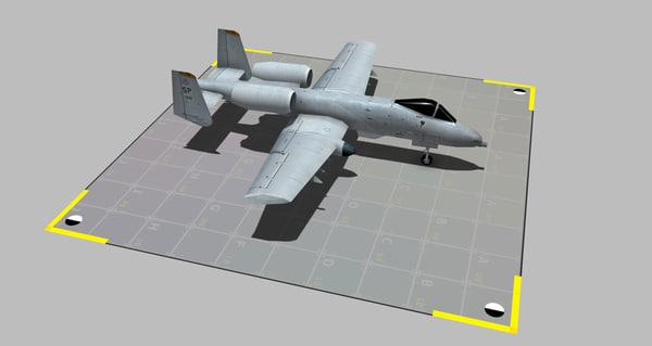 a-10 thunderbolt 3D