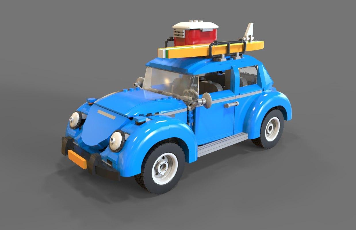 3D lego car model