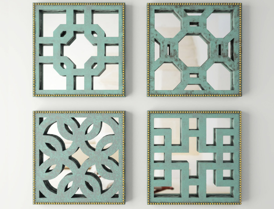 3D lattice wall decor set
