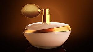 perfume lighting studio render model