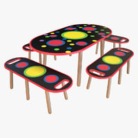 Kids Table With Bench_1