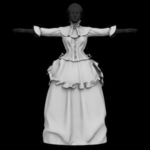 3D ancient dress model