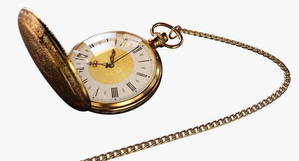 3D vintage pocket watch
