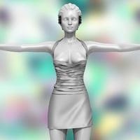 3D model fetish dress