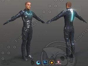 3D nexus soldier model