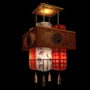 chinese palace lantern 3D