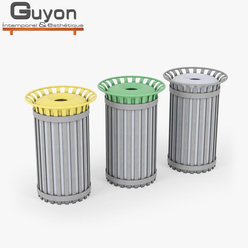 3D model waste bin