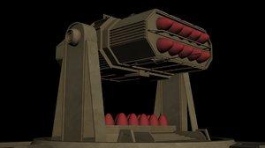 sam roket launcher-1 3D