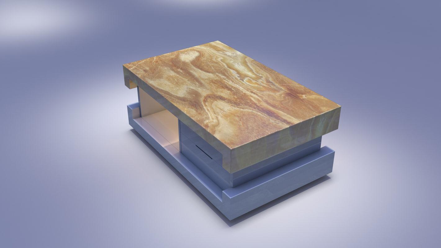 luxury center table 3D model