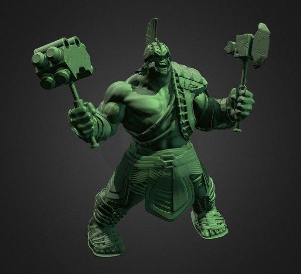 hulk inspirited print model