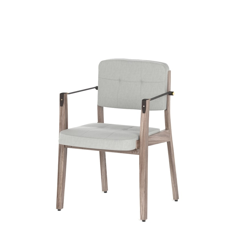 neri hu capo lounge chair 3D model