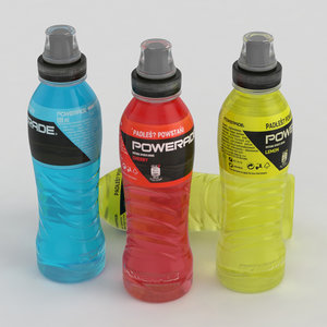 powerade bottles 3D model