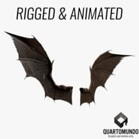 bat wings 3D