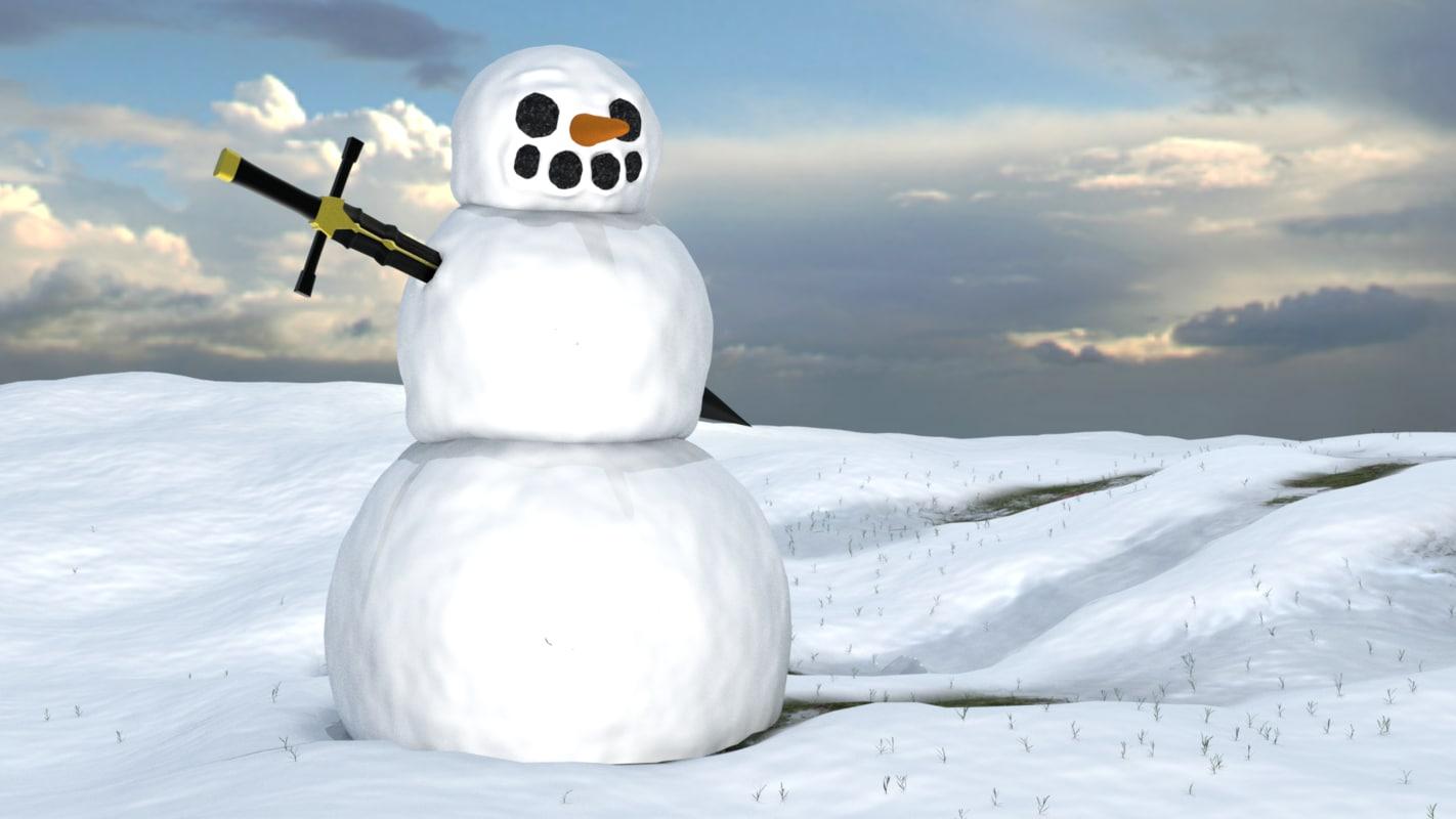 snow blender 3D model