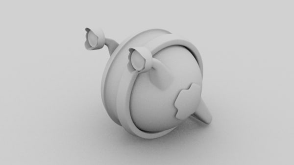 poor snail cute character 3D model
