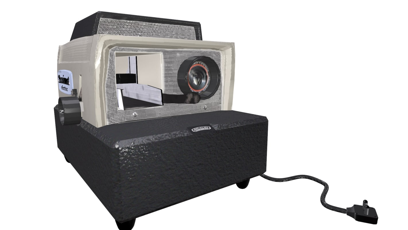old school projector 3D model