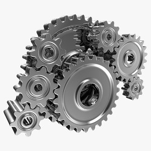 3D realistic gear machinery