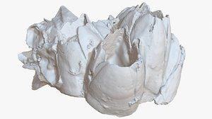 purple barnacle 2 sea shell 3D model