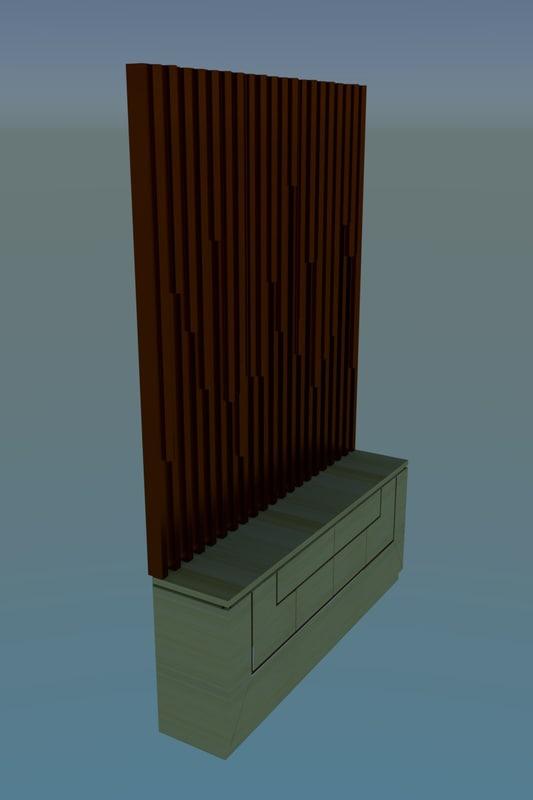 3D furniture unit