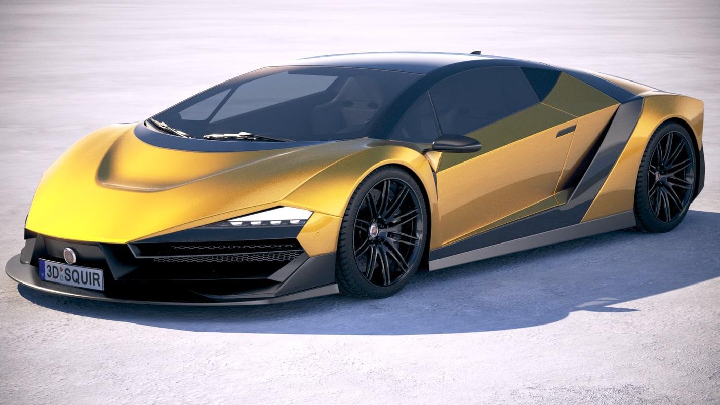 3D generic supercar 2018