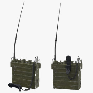 war ii portable transceiver 3D model
