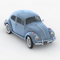 3D classic volkswagen beetle model