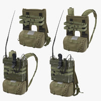 prc portable transceiver pack 3D model