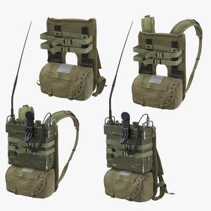 prc portable transceiver pack 3D model