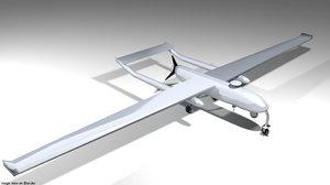 drone shadow uav 3D model