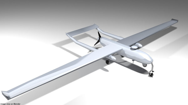 drone shadow uav 3D model