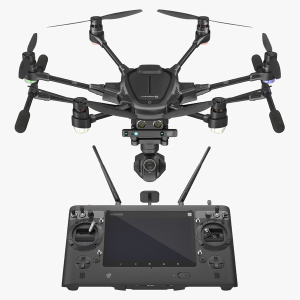 yuneec typhoon h videography 3D model