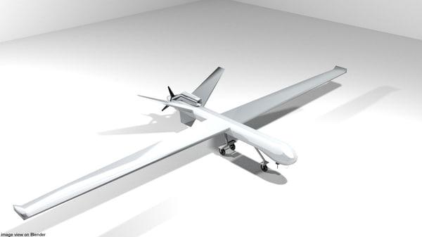 3D model uav drone